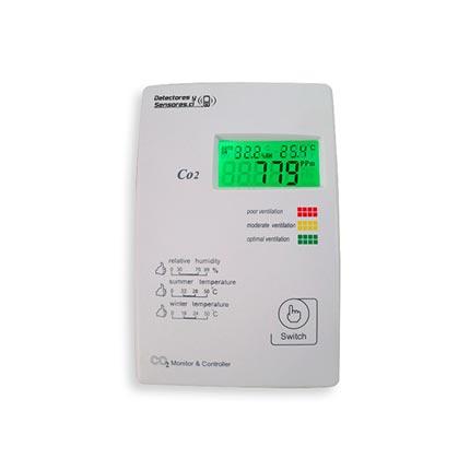 Detector Dióxido con Temperatura y Humedad 5000ppm Tres salidas Análogas