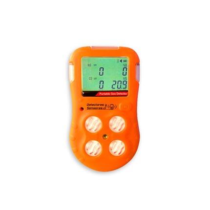 Detector Alarma Portátil de 4 Gases