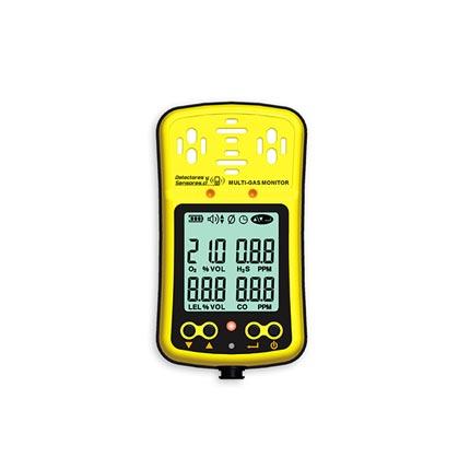 Detector Multi-Gas O2, H2S, CO, LEL