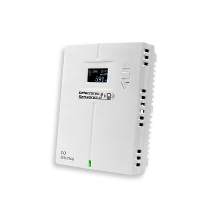 Detector CO con Pantalla – Salida Relé 24V